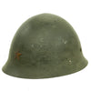 show larger image of product view 2 : Original Japanese WWII Type 92 Army Combat Helmet Period Repainted Green & dated 1942 - Tetsubo Original Items