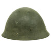 show larger image of product view 3 : Original Japanese WWII Type 92 Army Combat Helmet Period Repainted Green & dated 1942 - Tetsubo Original Items