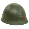 show larger image of product view 6 : Original Japanese WWII Type 92 Army Combat Helmet Period Repainted Green & dated 1942 - Tetsubo Original Items