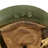 show larger image of product view 11 : Original Japanese WWII Type 92 Army Combat Helmet Period Repainted Green & dated 1942 - Tetsubo Original Items