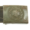 show larger image of product view 3 : Original German WWII Wehrmacht Army Heer Leather Belt with Steel Buckle by Hermann Aurich - dated 1941 Original Items