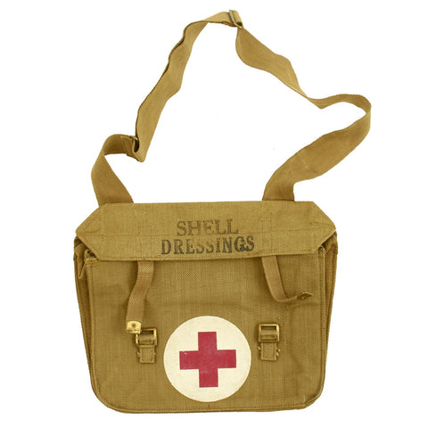 Original British WWII Pattern 1937 Medic Shoulder Bag for Shell Dressings by B. Ltd. - dated 1942 Original Items