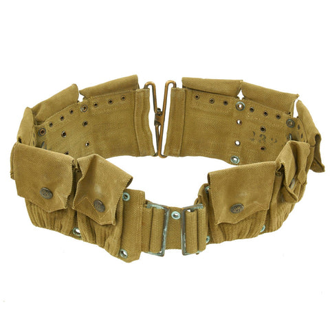 Original U.S. WWI M1910 Rimless Eagle Snap Dismounted Rifle Cartridge Belt by MILLS Original Items