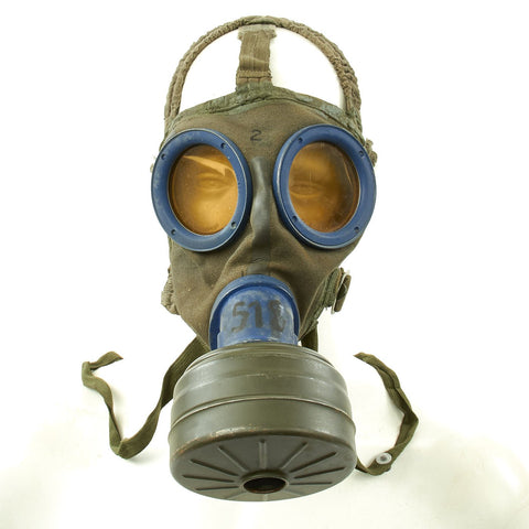 Original German WWII M30 3rd Model Size 2 Gas Mask with Filter, Can, & Accessories - WWII Dated Original Items