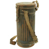 show larger image of product view 8 : Original German WWII Named M38 Gas Mask in Size 2 with Filter, Can, & Accessories - dated 1940 Original Items