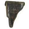 show larger image of product view 3 : Original German WWII Field-Modified P.08 Luger Black Leather Holster by Carl Busse - dated 1942 Original Items