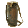 show larger image of product view 9 : Original German WWII Named M38 Gas Mask in Size 2 with Filter, Can, & Accessories - dated 1940 Original Items