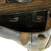 show larger image of product view 7 : Original German WWII Field-Modified P.08 Luger Black Leather Holster by Carl Busse - dated 1942 Original Items