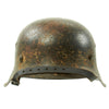 show larger image of product view 3 : Original German WWII M42 Service Worn Single Decal Army Heer Helmet with 56cm Liner - ET64 Original Items