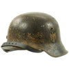 show larger image of product view 4 : Original German WWII M42 Service Worn Single Decal Army Heer Helmet with 56cm Liner - ET64 Original Items