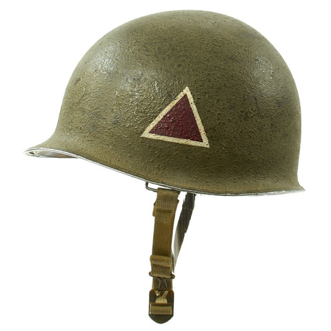 Original U.S. WWII Named 1943 M1 McCord Fixed Bale Helmet with Westinghouse Liner Original Items