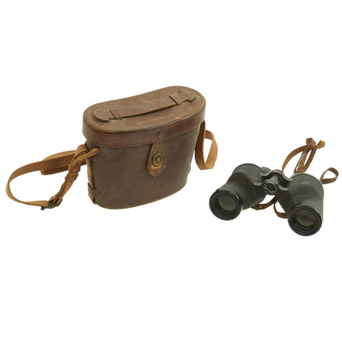 Original U.S. WWII M3 6x30 Binoculars by Nash-Kelvinator Corp. dated 1943 with M17 Leather Case Original Items