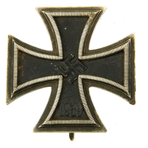 Original German WWII Iron Cross First Class 1939 with Pinback by Alois Rettenmaier of Schwäbisch-Gmünd - EKI Original Items