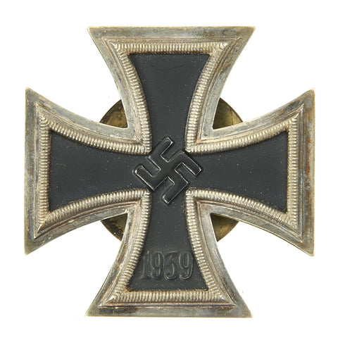 Original German WWII Iron Cross First Class 1939 with Screw Back by Alois Rettenmaier of Schwäbisch-Gmünd - EKI Original Items