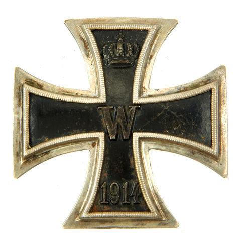 Original German WWI Prussian Vaulted Iron Cross First Class 1914 marked 800 - EKI Original Items