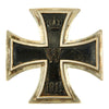 show larger image of product view 1 : Original German WWI Prussian Vaulted Iron Cross First Class 1914 marked 800 - EKI Original Items