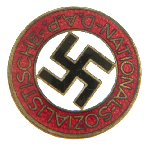 Original German NSDAP Party Enamel Membership Badge Pin by Werner Redo - RZM M1/100 Original Items