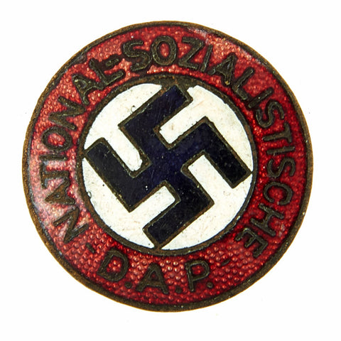Original German NSDAP Party Enamel Membership Badge Pin by Paul Meybauer - RZM PM Original Items