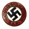 show larger image of product view 1 : Original German NSDAP Party Enamel Membership Badge Pin by Paul Meybauer - RZM PM Original Items