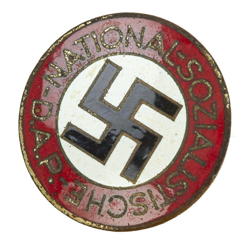 Original German NSDAP Party Enamel Membership Badge Pin by Matthias Salcher & Söhne - RZM M1/136 Original Items