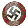 show larger image of product view 1 : Original German NSDAP Party Enamel Membership Badge Pin by Matthias Salcher & Söhne - RZM M1/136 Original Items