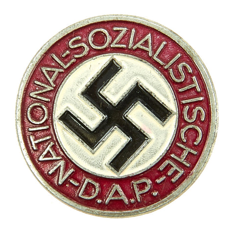 Original German NSDAP Party Enamel Membership Badge Pin by Steinhauer & Lück - RZM 1/63 Original Items