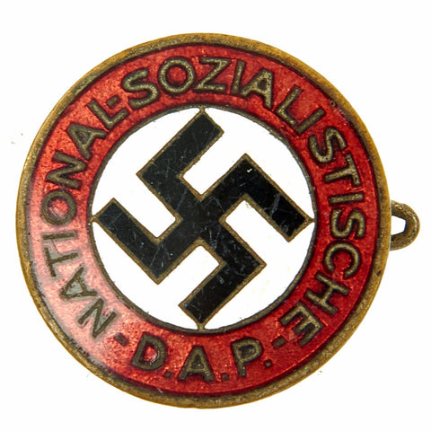 Original German WWII Early NSDAP Party Enamel Membership Badge Pin by Deschler & Sohn Original Items
