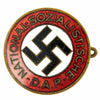 show larger image of product view 1 : Original German WWII Early NSDAP Party Enamel Membership Badge Pin by Deschler & Sohn Original Items