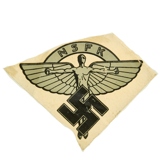 Original WWII German NSFK National Socialist Flyinc Corps Helmet Decal by Müller, Berlin Original Items