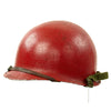 show larger image of product view 4 : Original U.S. WWII - Korean War Named M1 McCord Front Seam Helmet painted Red with Firestone Liner Original Items