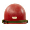 show larger image of product view 5 : Original U.S. WWII - Korean War Named M1 McCord Front Seam Helmet painted Red with Firestone Liner Original Items