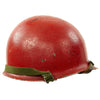 show larger image of product view 2 : Original U.S. WWII - Korean War Named M1 McCord Front Seam Helmet painted Red with Firestone Liner Original Items