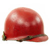 show larger image of product view 7 : Original U.S. WWII - Korean War Named M1 McCord Front Seam Helmet painted Red with Firestone Liner Original Items