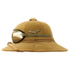 show larger image of product view 5 : Original German WWII First Model Luftwaffe DAK Afrikakorps Tropical Sun Helmet with Eye Shields - Size 57 Original Items