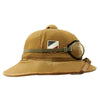 show larger image of product view 3 : Original German WWII First Model Luftwaffe DAK Afrikakorps Tropical Sun Helmet with Eye Shields - Size 57 Original Items