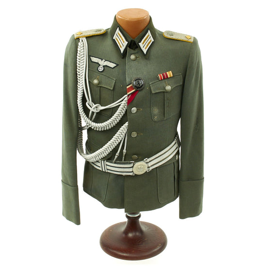 Original German WWII Cavalry Officer Tunic by Bender of Stuttgart Original Items