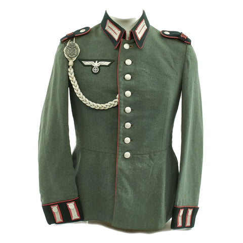 Original German WWII 100th Panzer Battalion M35 Dress Tunic Original Items