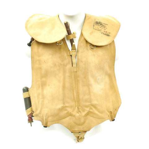 Original German WWII Kriegsmarine Navy Life Preserver Vest Dated 1942 Original Items