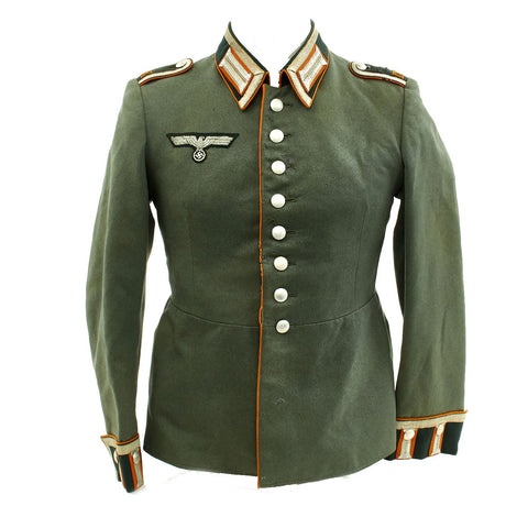 Original German WWII Recruiting Unteroffizier M35 Dress Tunic Waffenrock - Wehrkreis IX Original Items