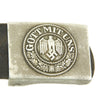 show larger image of product view 2 : Original German WWII Wehrmacht Army Heer EM/NCO Belt with Pebbled Aluminum Buckle - dated 1936 & 1938 Original Items