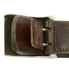 show larger image of product view 8 : Original German WWII Wehrmacht Army Heer EM/NCO Belt with Pebbled Aluminum Buckle - dated 1936 & 1938 Original Items
