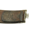 show larger image of product view 10 : Original German WWII Wehrmacht Army Heer EM/NCO Belt with Pebbled Aluminum Buckle - dated 1936 & 1938 Original Items