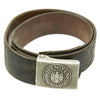 show larger image of product view 1 : Original German WWII Wehrmacht Army Heer EM/NCO Belt with Pebbled Aluminum Buckle - dated 1936 & 1938 Original Items
