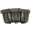 show larger image of product view 1 : Original German WWII Naval Black Leather Mauser 98k Triple Pouch with Kriegsmarine Marking - dated 1939 Original Items