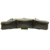 show larger image of product view 6 : Original German WWII Naval Black Leather Mauser 98k Triple Pouch with Kriegsmarine Marking - dated 1939 Original Items