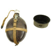 show larger image of product view 6 : Original German WWII Afrikakorps Coconut Canteen by Heinrich Ritter with Cup and Harness - 1941 & 1943 Dated Original Items