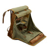 show larger image of product view 4 : Original German WWII Radio Signalman #3 Fernsprechtornister Cowhide Backpack - Dated 1940 Original Items