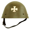 "show larger image of product view 1 : Original Czechoslovakian WWII Vz32 / M32 ""Egg-Shell"" Steel Helmet repainted Post War Original Items"