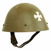 "show larger image of product view 6 : Original Czechoslovakian WWII Vz32 / M32 ""Egg-Shell"" Steel Helmet repainted Post War Original Items"