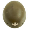 "show larger image of product view 9 : Original Czechoslovakian WWII Vz32 / M32 ""Egg-Shell"" Steel Helmet repainted Post War Original Items"